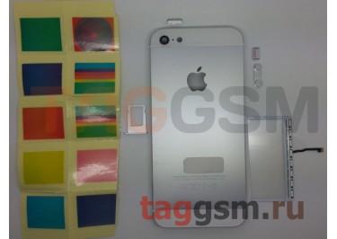 Задняя крышка для iPhone 5 (белый), со светящимся яблоком