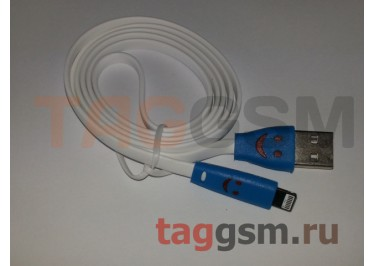 USB для iPhone 5 / iPad4 / iPad Mini / iPod Nano SMILE светящийся белый в блистере