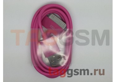 USB для iPhone 4 / iPhone 3 / iPad / iPad 2 / iPod малиновый техпак