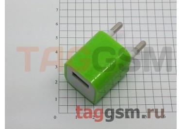 СЗУ для iPhone 4 (маленький блок питания ) 1000mAзелёный