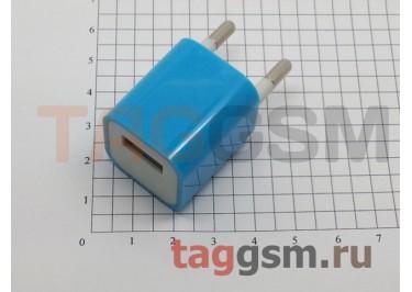 СЗУ для iPhone 4 (маленький блок питания ) 1000mAголубой