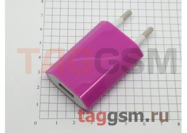 СЗУ для iPhone 4 (большой блок питания ) 1000mA малиновый