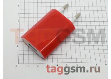 СЗУ для iPhone 4 (большой блок питания ) 1000mA красный
