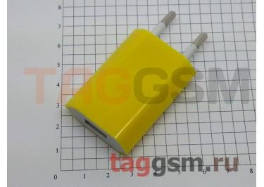 СЗУ для iPhone 4 (большой блок питания ) 1000mA жёлтый
