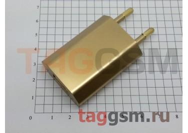 СЗУ для iPhone 4 (большой блок питания ) 1000mA золотой