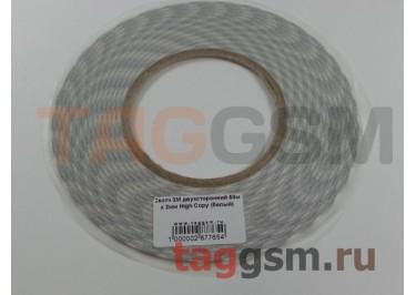 Скотч 3M двухсторонний 50м х 2мм High Copy (белый)