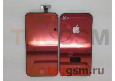 Дисплей для iPhone 4S + тачскрин + задняя крышка + кнопка Home (бронза)