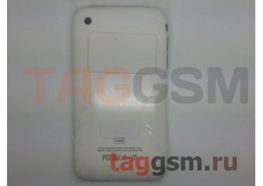 Задняя крышка для iPhone 3GS 16GB в сборе с хром.рамкой + разъем зарядки + разъем гарнит. (белый)