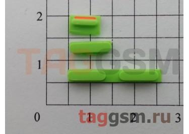 Кнопка (толкатель) для iPhone 5C (mute, on / off, volume) (зеленый)