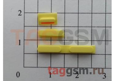 Кнопка (толкатель) для iPhone 5C (mute, on / off, volume) (желтый)