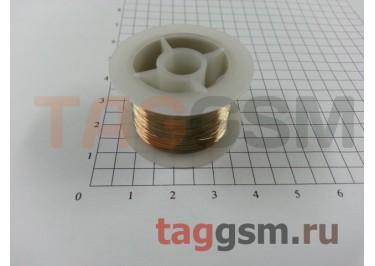 Жгут (струна) для разборки сенсорных модулей 0,1мм 120м (золото) YAXUN