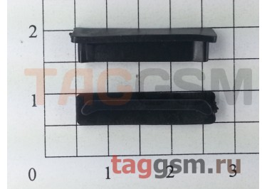Заглушка разъема зарядки для iPhone 4 / 4s (черный)