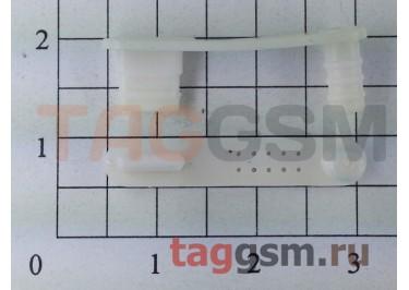 Заглушка разъема зарядки+гарнитуры для iPhone 5 / 5s (белый)