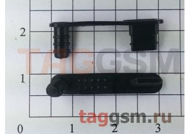 Заглушка разъема зарядки+гарнитуры для iPhone 5 / 5s (черный)