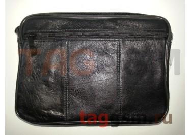 Сумка мужская черная (кожа) 681