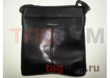 Сумка мужская черная (кожа) 215