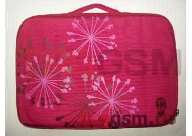 Сумка для ноутбука 12 дюймов Цветы (бордовая) FL 12