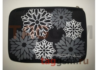 Сумка для ноутбука 10 дюймов Цветы (графит) FL 10
