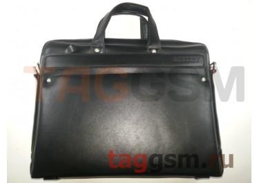 Сумка для ноутбука кожаная 38х30см (черная) 3005-4