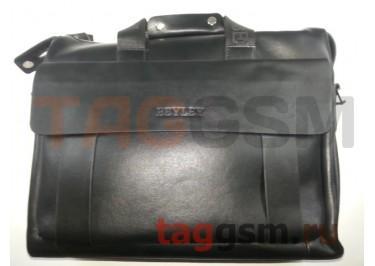 Сумка для ноутбука кожаная 38х29см (черная) 3008-5