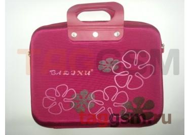 Сумка для ноутбука 13 дюймов ЦВЕТЫ (бордовый) GL-13