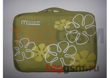 Сумка для ноутбука 10 дюймов Цветы (зеленая) FL 10