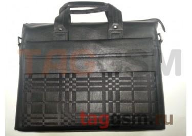 Сумка для ноутбука кожаная 38сх31см (черная) 9968-1