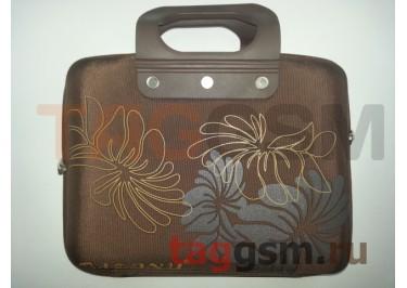Сумка для ноутбука 10 дюймов ЦВЕТЫ (коричневый) GL-10
