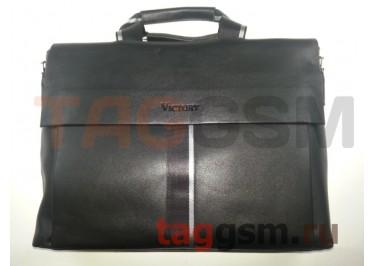 Сумка для ноутбука кожаная 39х27см (черная) 3301-5