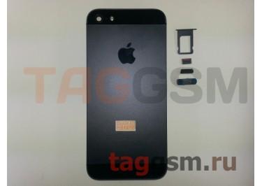 Задняя крышка для iPhone 5 (черный) AAA
