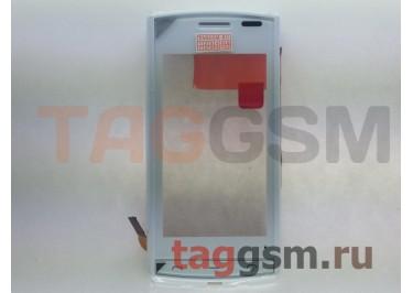 Тачскрин для Nokia 500 (белый) с рамкой, ориг