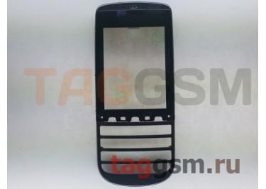 Тачскрин для Nokia 300 (Asha) в сборе с передней панелью (черный), ориг (тайвань)