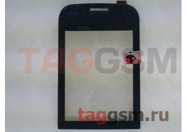 Тачскрин для Nokia 202 (Asha) (черный), оригинал (тайвань)