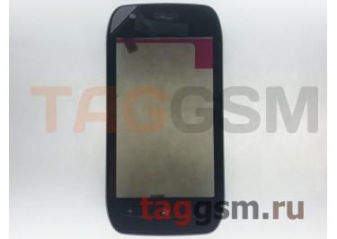 Тачскрин для Nokia 710 (черный) в рамке
