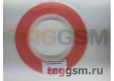 Скотч RED двухсторонний 2мм (прозрачный)