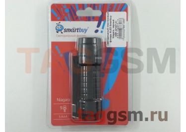 Светодиодный пластиковый фонарь 9LED Smartbuy Niagara, черный (SBF-AF007-K)
