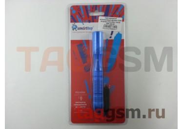 Светодиодный алюминиевый фонарь 0,5W Smartbuy Kiondike, синий (SBF-402-B)
