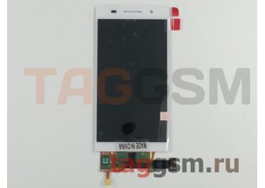 Дисплей для Huawei Ascend P6 + тачскрин (белый)