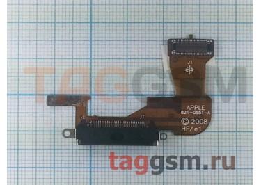 Шлейф для iPhone 3G + разъем зарядки (черный)
