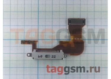 Шлейф для iPhone 3G + разъем зарядки (белый), ориг