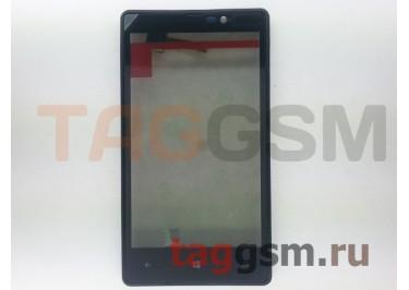 Тачскрин для Nokia 820 (черный) в сборе с передней панелью, ориг