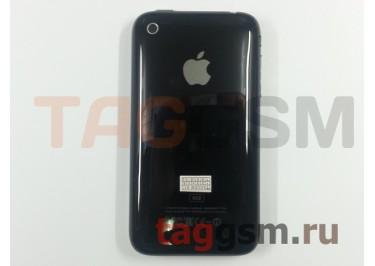 Задняя крышка для iPhone 3G 8GB в сборе с хром. рамкой + разъем зарядки + разъем гарнит. (черный)