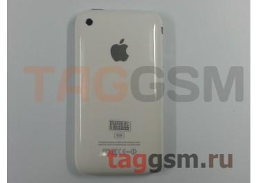 Задняя крышка для iPhone 3G 8GB в сборе с хром. рамкой + разъем зарядки + разъем гарн + АКБ (белый)