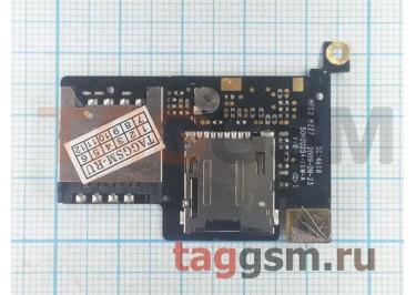 Шлейф для HTC Desire (A8181) + разъем сим + считыватель карты памяти