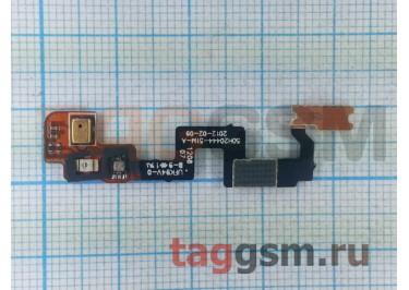 Шлейф для HTC One X + кнопка включения + микрофон