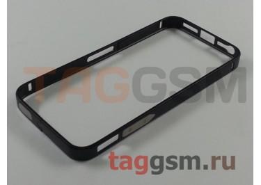Бампер для iPhone 5 / 5S / SE (металлический, (чёрный) Fashion Case