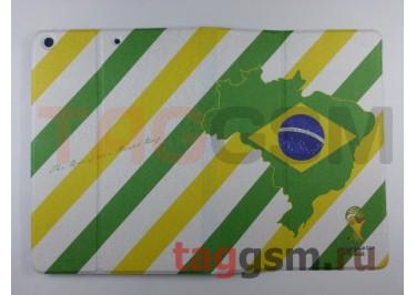 Сумка футляр-книга для iPad 5 Air (Флаг Бразилии)