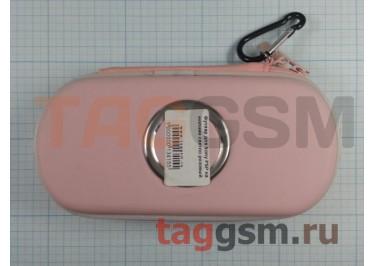 Футляр для Sony PSP на молнии светло розовый