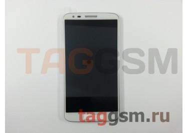 Дисплей для LG D802 Optimus G2 в рамке + тачскрин (белый)