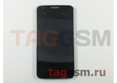 Дисплей для LG D802 Optimus G2 в рамке + тачскрин (черный)